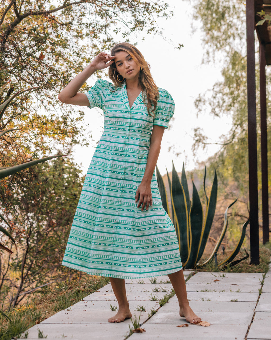 Gabriella Dress - Boho Jade