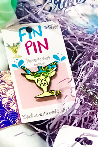 Margarita Shark Pin Mermaid Subscription Box