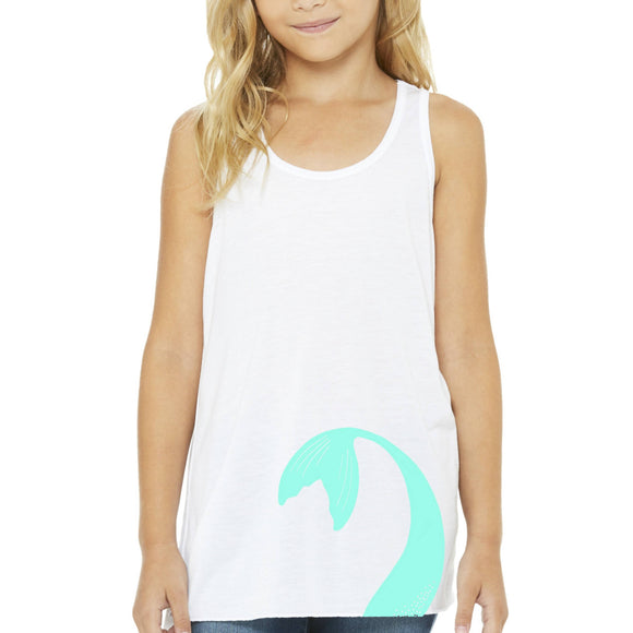 Mermaid Elle Turquoise Tail Youth Tank