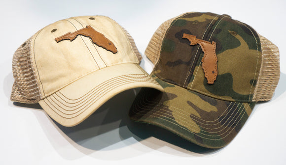Leather Florida Patch Trucker