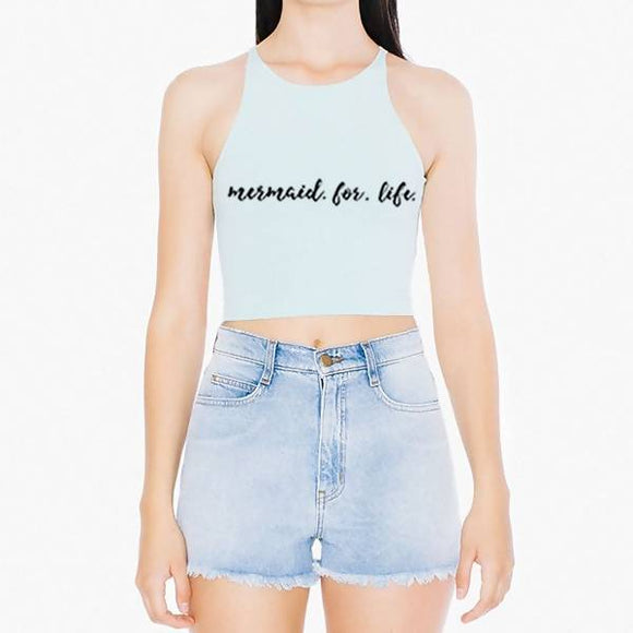 Mermaid For Life Halter Crop by The Filthy Mermaid