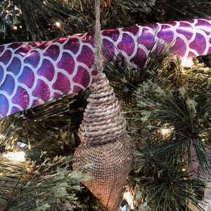Burlap Shell Ornament