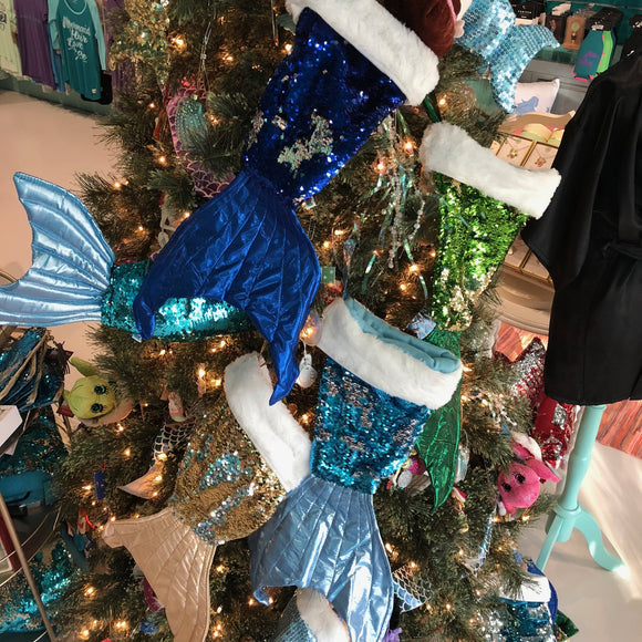 Reversible Sequin Mermaid Tail Stocking