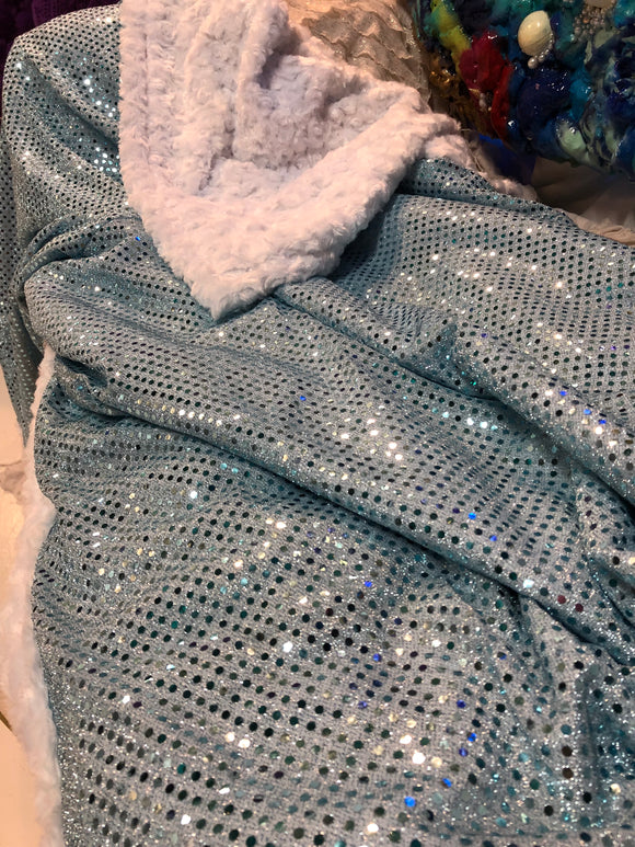 SaraBera Handmade Mermaid Sequin Blanket