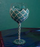 Mermazing Hand Painted Wine Glass