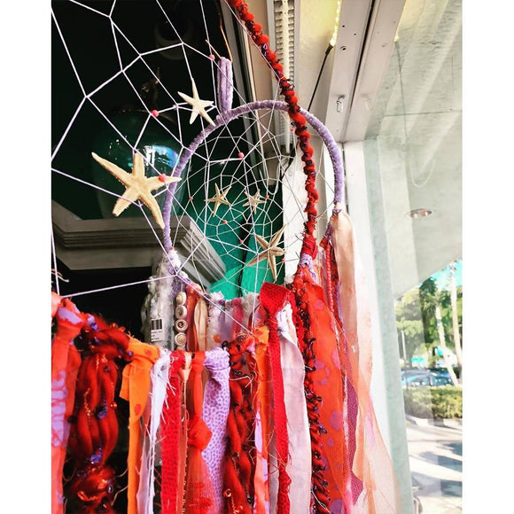 Fire Coral Dreamcatcher