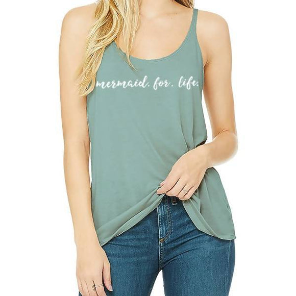 Mermaid For Life Slouch Tank