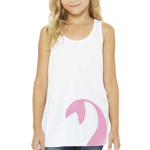 Mermaid Elle Pink Tail Youth Tank