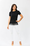 Feather Tee: Black