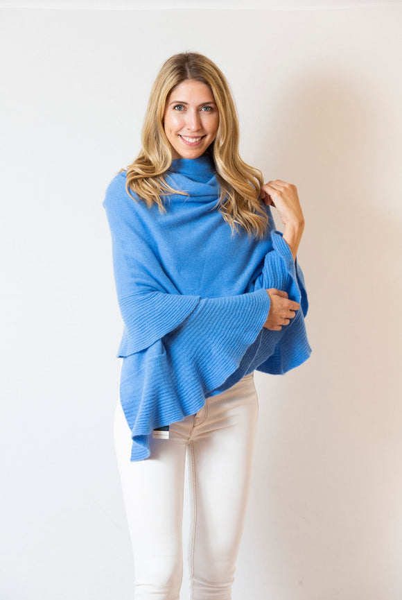 Ruffle Wrap | Cornflower