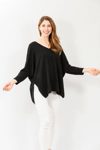 Lia V-Neck | Black