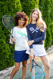 Cotton Tennis Racket | Ivory & Lime