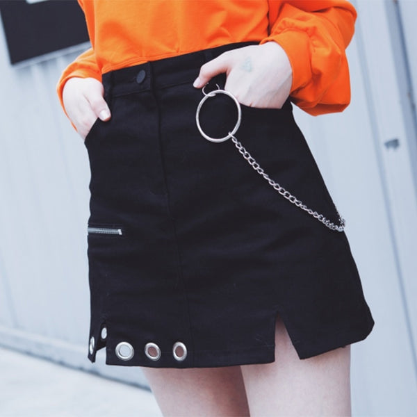 Slit It Up Mini Skirt