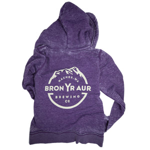 Logo Zip-up - Purple