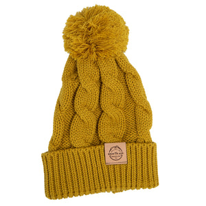 Chunky Knit Beanie - Vintage Yellow