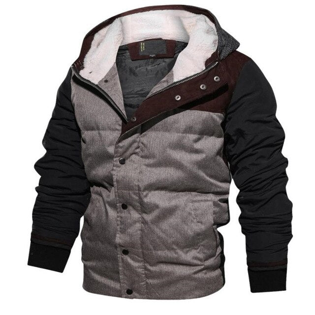 men's cotton warm hooded men's jacket