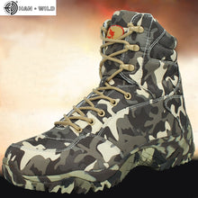 Men Military High Quality Waterproof Canvas Camouflage boots