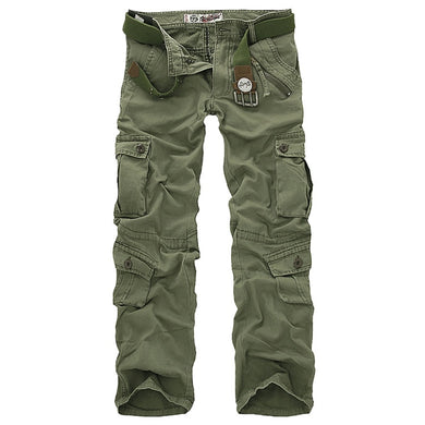 men cargo camouflage military pants