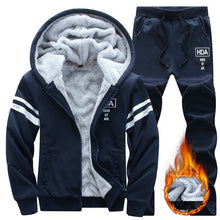 Causal Men Set hooded Thicken Fleece