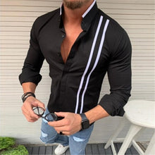 Men's Bamboo Cotton Long Sleeve Striped Fit Shirt