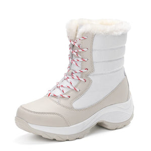 Women's Boots mid-calf boots women waterproof snow boots