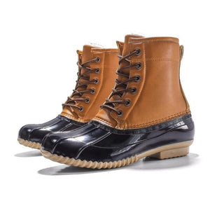 Women's Boots Lady Duck Boot With Waterproof Zipper Rubber Sole