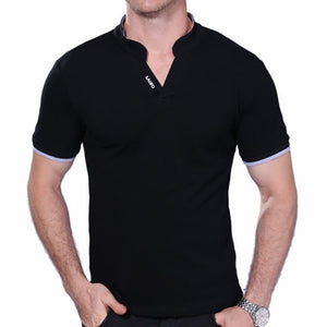 Summer Fashion Men's T Shirt Casual Patchwork Short Sleeves 5XL