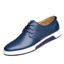 Gaorui New Brand Men Loafers PU Leather Casual Shoes Plus Size