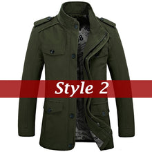 Men's Fashion Jackets Collar Military Coat 3 Colors