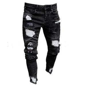 New Fashion Men Jeans 2019 New Arrival Destroyed Long Pants