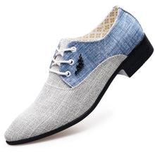 canvas formal Leather Shoes Breathable 2019 Mens oxford Flats