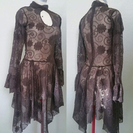 Brown Lace Keyhole Faerie Dress