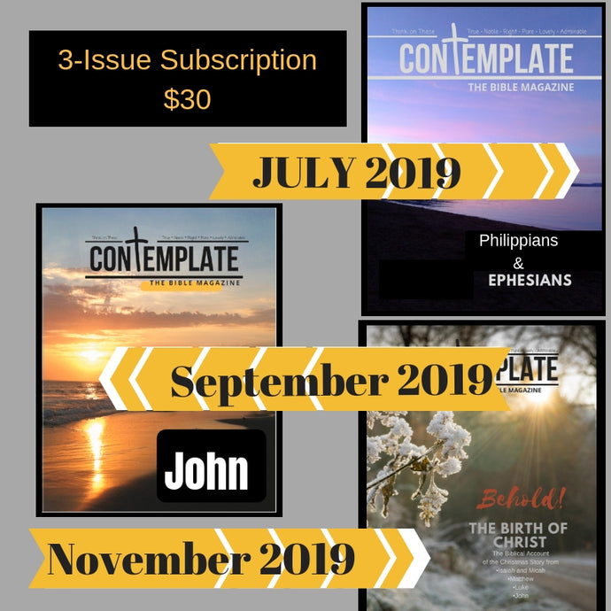 3-Issue Subscription (Begins with Ephesians/Philippians July 2019)