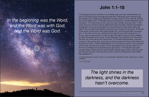 John 1:1-18The light shines in the darkness. Christian  Bible magazine