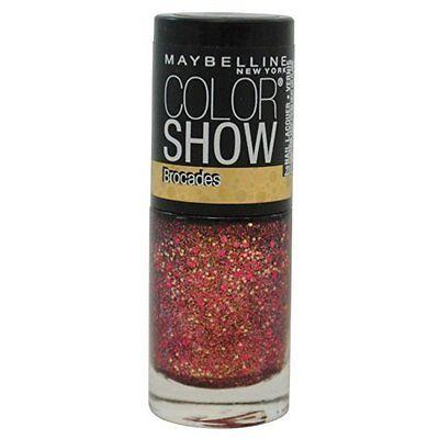 New Maybelline Color Show Brocades Nail Polish - 775 Crushed Crimson, Nail Polish, Maybelline, makeupdealsdirect-com, [variant_title], [option1]