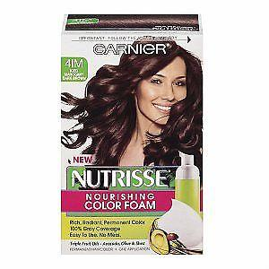 Garnier Nutrisse Nourishing Color Foam, 4im Iced Mahogany Dark Brown, Hair Color, Garnier  - MakeUpDealsDirect.com