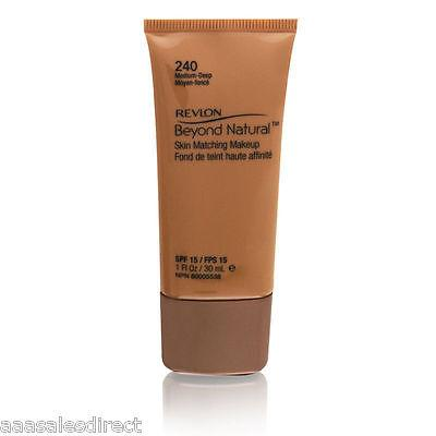 Revlon Beyond Natural Skin Matching Makeup SPF15, Medium Deep 1oz, Face Powder, Revlon, makeupdealsdirect-com, [variant_title], [option1]