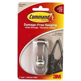 3M Command Damage-Free Hanging Hooks, Wall Hooks & Hangers, Command, makeupdealsdirect-com, 1 Large Hook + 2 Medium Strips (holds 3lbs) 17061, 1 Large Hook + 2 Medium Strips (holds 3lbs) 17061