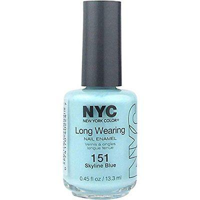 Nyc Long Wearing Nail Enamel - Skyline Blue, Nail Polish, N.Y.C., makeupdealsdirect-com, [variant_title], [option1]
