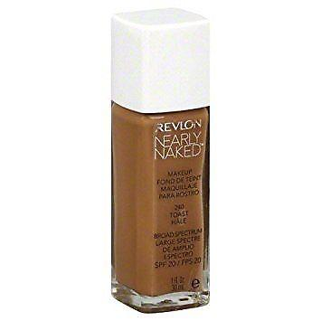 Revlon Nearly Naked Foundation Makeup, 240 Toast, 1 Fl Oz, Foundation, Revlon, makeupdealsdirect-com, [variant_title], [option1]