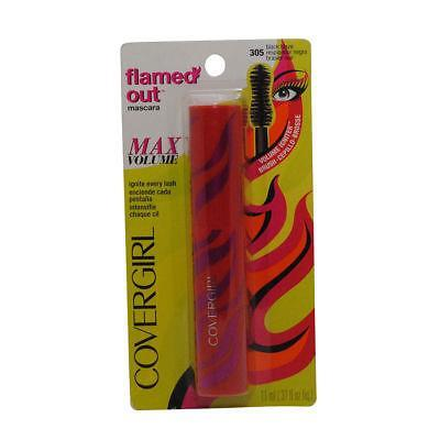 2 Pack Covergirl Flamed Out Mascara Max Volume 305 Black Blaze 0.37 Oz, Eye Shadow, CoverGirl, makeupdealsdirect-com, [variant_title], [option1]
