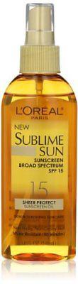 L'Oreal Paris Sublime Sun Advanced Sunscreen Oil Spray SPF 15, 5.0 Ounce, Other Sun Protection & Tanning, L'Oreal Paris  - MakeUpDealsDirect.com