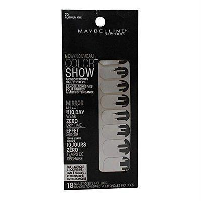 3 Pack- Maybelline Color Show Fashion Prints Nail Stickers #70 Platimun Nyc, Nail Polish, Maybelline, makeupdealsdirect-com, [variant_title], [option1]
