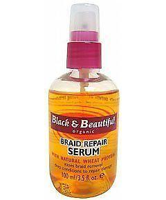 . Black & Beautiful Braid Repair Serum 3.5 Oz By Black & Beautiful Organic, Medicated Hair Treatments, black and beautiful  - MakeUpDealsDirect.com