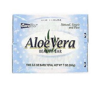 Coralite Aloe Vera Beauty Bar 3.5oz 2pack, Bar Soaps, Coralite  - MakeUpDealsDirect.com