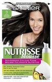 Garnier Nutrisse Nourishing Color Foam Permanent Hair Color (CHOOSE YOUR COLOR), Hair Color, nutrise, makeupdealsdirect-com, 3 Darkest Brown, 3 Darkest Brown