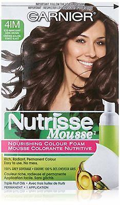 Garnier Nutrisse Nourishing Color Foam Permanent Hair Color (CHOOSE YOUR COLOR), Hair Color, nutrise, makeupdealsdirect-com, 4IM Iced Mahogany Dark Brown, 4IM Iced Mahogany Dark Brown