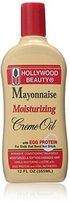 Hollywood Beauty Mayonnaise Moisturizing Creme Oil, 12 Ounce, Treatments, Oils & Protectors, Hollywood Beauty, makeupdealsdirect-com, [variant_title], [option1]