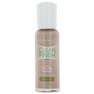 Clean Finish, Foundation 350 Warm Honey By Rimmel, Foundation, Rimmel  - MakeUpDealsDirect.com