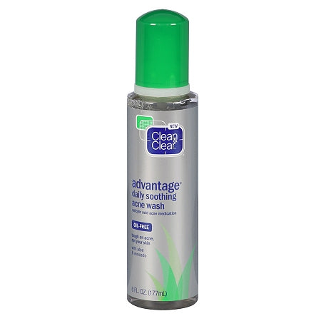 Clean & Clear Advantage Daily Soothing Acne Wash Oil Free, Acne & Blemish Treatments, CLEAN & CLEAR  - MakeUpDealsDirect.com